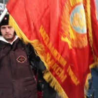 У россиян на Олимпиаде забрали флаг с Лениным