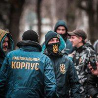 Активисты Нацкорпуса избили коммуниста, распространявшего листовки (видео)